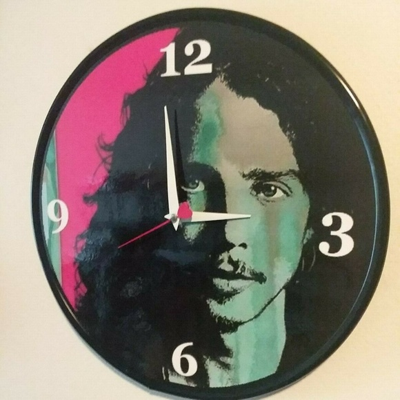 New Homemade Other - CHRIS CORNELL - 12 INCH WALL CLOCK SOUNDGARDEN NEW